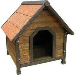 Caseta madera tejado abatible