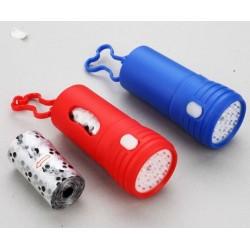 Portabolsas cacas con linterna