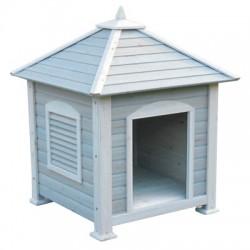 Caseta madera para perro y gato 4 aguas