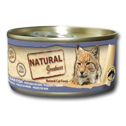 Latita para gatos de pescado de mar