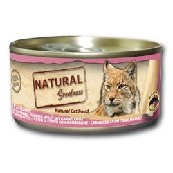 Latita para gato de filete de atún con gambas