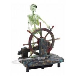 Decoración esqueleto al timón