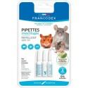 Pipetas repelentes de parasitos para roedores