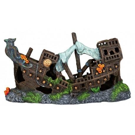Galeón hundido decoración acuario