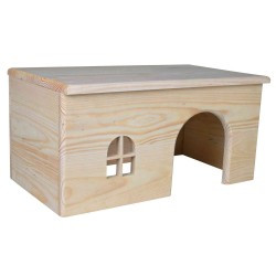 Casita de madera para conejos y chinchillas