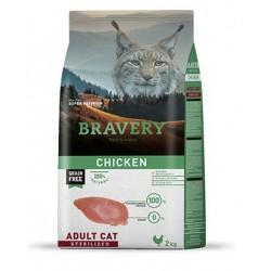 Bravery Pollo Gatos Esterilizados